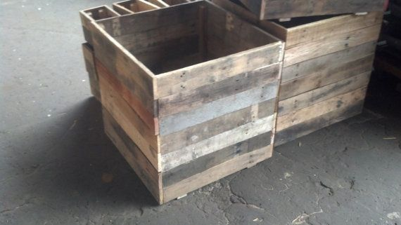 Recycle Pallet Planters - 20 cubed. $45.00, via Etsy.
