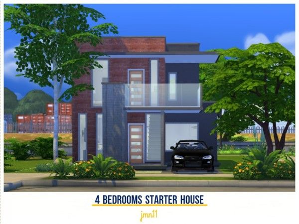 The Sims Resource: 4 Bedrooms Starter House by jmn11 • Sims 4 Downloads