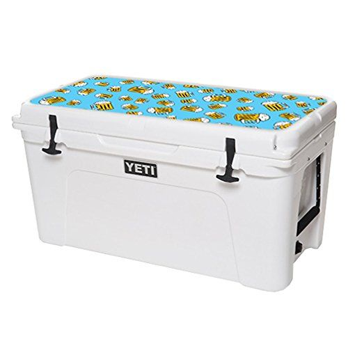 MightySkins Protective Vinyl Skin Decal for YETI Tundra 75 qt Cooler Lid wrap cover sticker skins Beer Tile * Click image to review more details.(This is an Amazon affiliate link and I receive a commission for the sales)