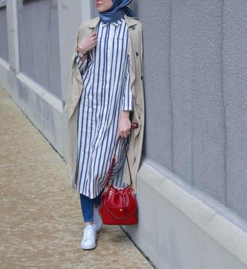 Hijab Style: Casual style hijab with pants