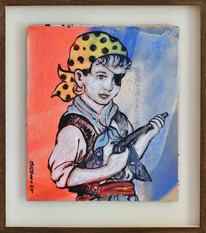 David Bromley - Pirate - Painting - Whimsical