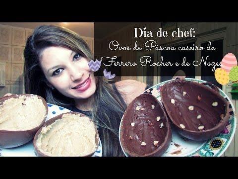 Ovos de Páscoa caseiro de Ferrero Rocher e de Nozes - YouTube