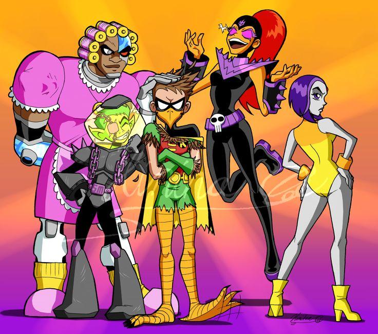 Hinistrash  Halloween Go Colored Teen Titans Belong To -2034