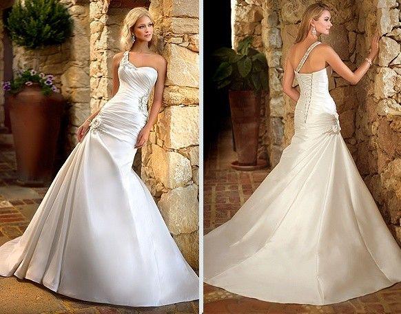 Stella York Ella French Mikado Gown 5688  Wedding Dress on Sale 78% Off