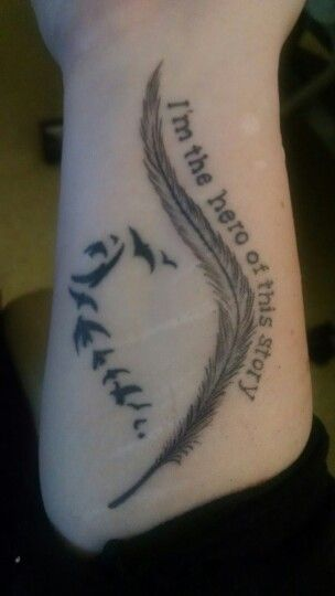My first tattoo. #NEDAsymbol #imtheheroofthisstory #recovery