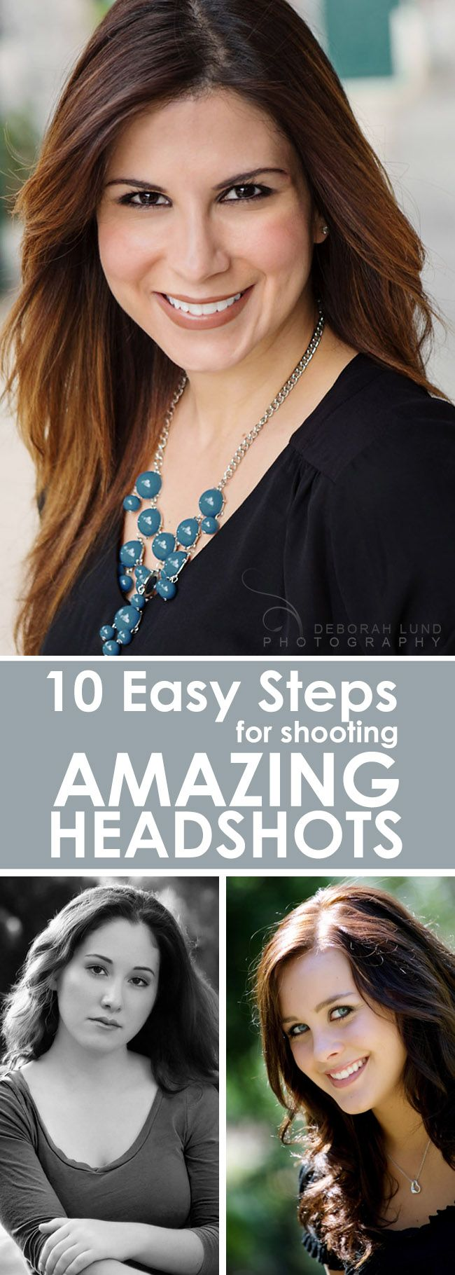 10 easy steps to take professional looking headshots with any DSLR & natural…