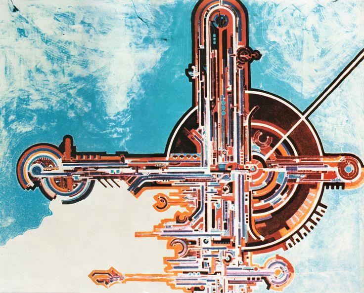 Dipinti di Romano Botti - Pianta della città futura