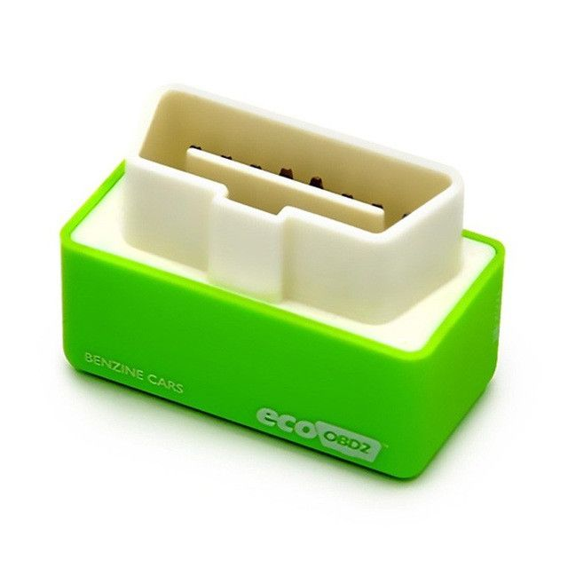 HOT!!! Green EcoOBD2 Economy Chip Tuning Box OBD Car Fuel Saver Eco OBD2 for Benzine Cars Fuel Saving 15%