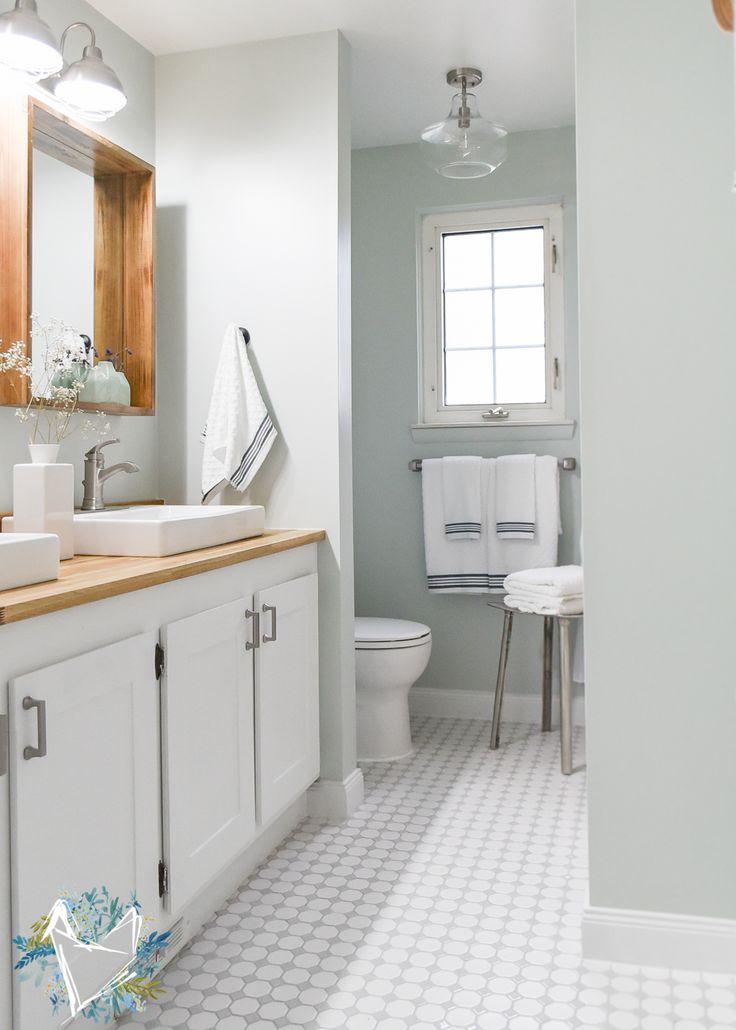 Modern Farmhouse Bathroom Makeover On A Budget