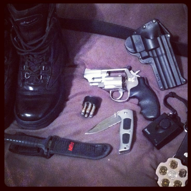#edc everyday carry: #galls tactical boots, #smith&wesson #model66 #357 and millennium swat edition knife, mtec knife, .45 wheel gun belt buckle, #fobus holster