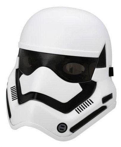 Máscara Stormtrooper para niños. Con luces led en los ojos. Fabricada en plástico, con elástico para sujetarla. Empaque: bolsa. ¡¡Únete al Imperio!!