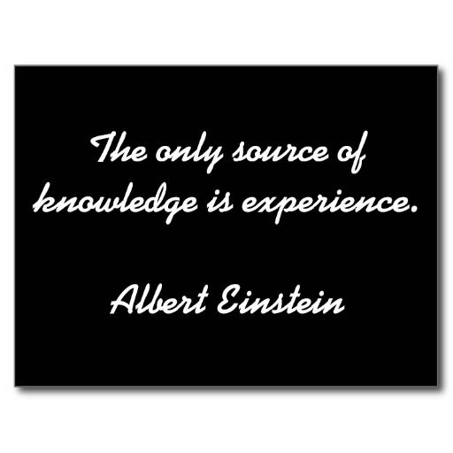 Albert Einstein Quoted Postcard - Knowledge