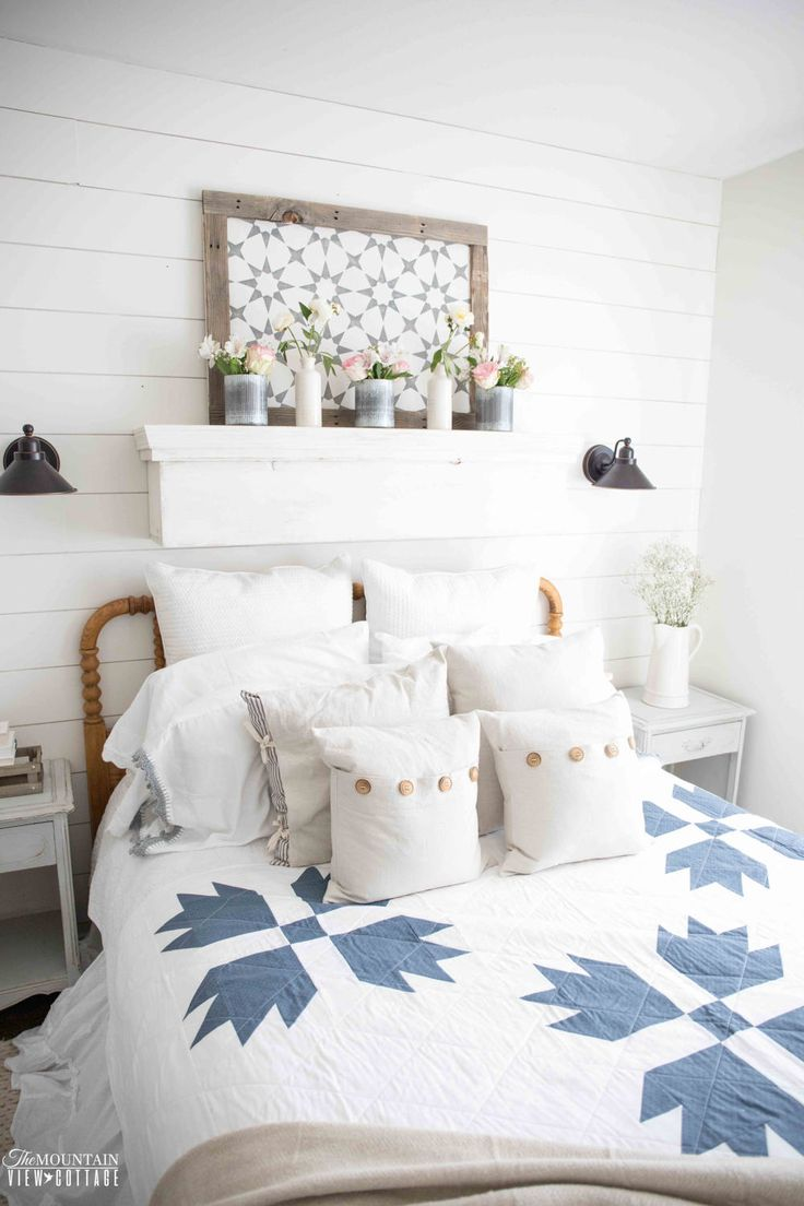 Farmhouse Bear Paw Quilt-Navy-/Throw Blanket- Twin by littlebitseverything on Etsy