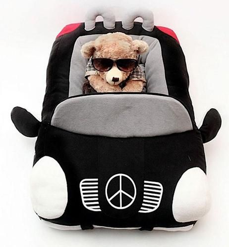 Luxury Fleece Super Car Dog Bed with Removable Pillow & Waterproof Bottom #dog beds #luxury dog beds #small dog beds #play dog beds #dog car cushion #designer pet accessories #puppy car bed #unique dog beds #toy dog bed #luxury dog cushions #designer dog beds