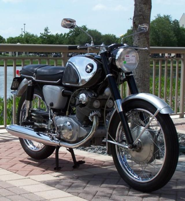 The Honda 305: This 1963 Honda Superhawk is typical of the interest being shown in smaller classic bikes. Having been produced in large numbers, parts for the Superhawk are generally still available.