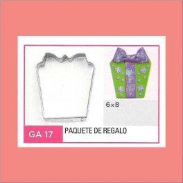 Categoría: Cortantes Metalicos Galletas - Producto: Cortante Metal Paquete De Regalo - Ga17 - Envase: Unidad - Presentación: X Unid. - Marca: Flogus