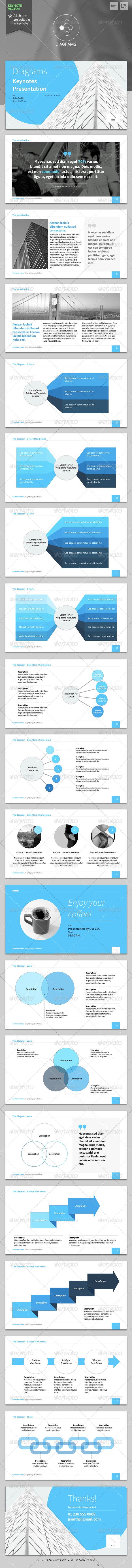Diagrams - Keynote Template  #GraphicRiver               Shape your ideas into effective presentation!    This template designed to help you prepare an elegant presentation on your step by step planning, instantly.     Features:   Fully editable in keynote  Easy drag and drop to