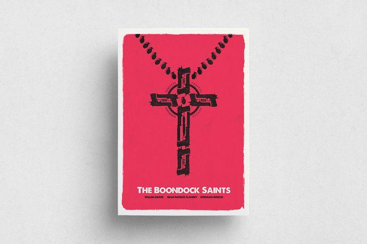 #Boondock Saints #Movie #Film #Red #White #Poster #Print #Minimalism #Minimalist #Design #Graphic Design #Adrian #Iorga #Art #Wallart #Decoration #Fashion