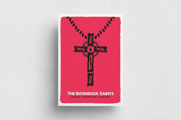 #Boondock Saints #Movie #Film #Red #White #Poster #Print #Minimalism #Minimalist #Design #Graphic Design #Adrian #Iorga #Art #Wallart #Decoration #Fashion