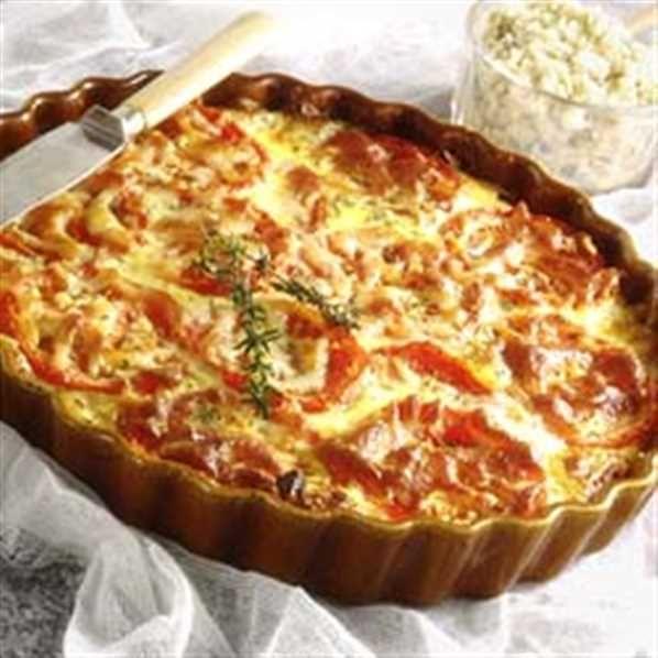 Tomattærte Tærten er rigtig sommermad, og smager specielt skøn, når man bruger de danske tomater.