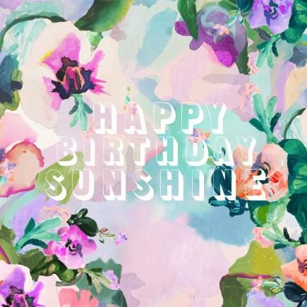 "Annie Everingham ""HAPPY BIRTHDAY SUNSHINE"" card.  Available in store."