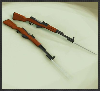 Full Size Type 56 Semi-Automatic Rifle Free Paper Model Download - http://www.papercraftsquare.com/full-size-type-56-semi-automatic-rifle-free-paper-model-download.html