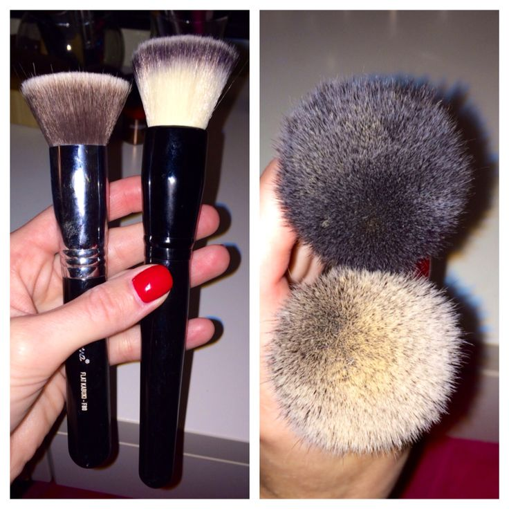"""Sigma F80 dupe  """"I swear by my Sigma F80 brush to apply my foundation, but this Coastal Scents brush is a great dupe! It's so dense and I honestly felt like I had more of an airbrush finish with my coastal scents brush than I do with my sigma brush. Coastal scents Bionic flat top buffer $6.95 Sigma F80 flat kabuki $24"""""""