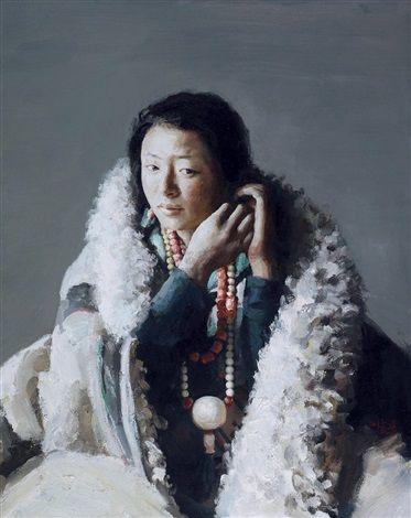 2005 PORTRAIT OF ZHUO MA -- Xu Weixin (徐唯辛; b1958, Urumqi, Xinijiang Province, China)