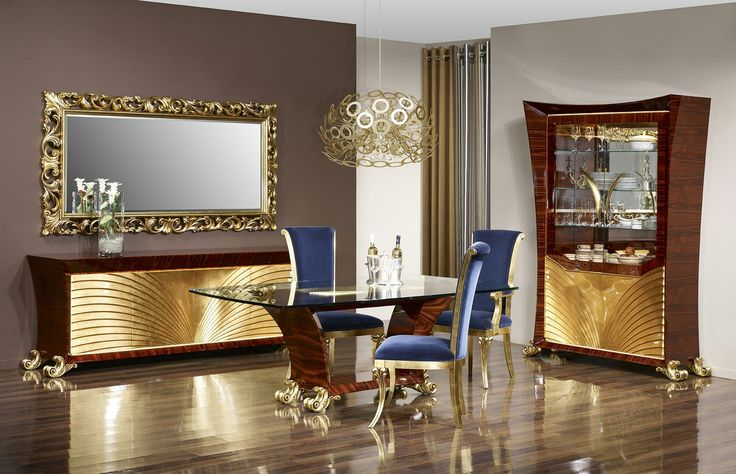 Dining room aqua modern classic