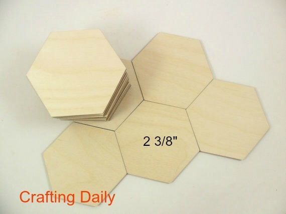 """Wood Hexagons Laser Cut Tiles Game Pieces Blanks Shapes 2 3/8"""" Side/Side 2 3/4"""" Point/Point - 25 Pieces by CraftingDaily on Etsy https://www.etsy.com/listing/479255745/wood-hexagons-laser-cut-tiles-game"""