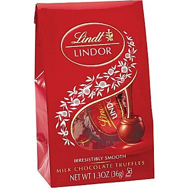 Lindt LINDOR Chocolate Truffles Milk Chocolate. A delicate milk chocolate shell enrobes an irresistibly smooth milk chocolate center.  I have tried these before this and I recommend this and any other flavor of Lindt's Lindor Truffles!