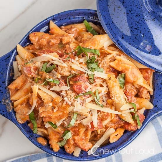 Penne with Vodka Sauce - Richly flavorful, creamy without being heavy.  Awesome weekend or weeknight meal.  Leftovers are great.