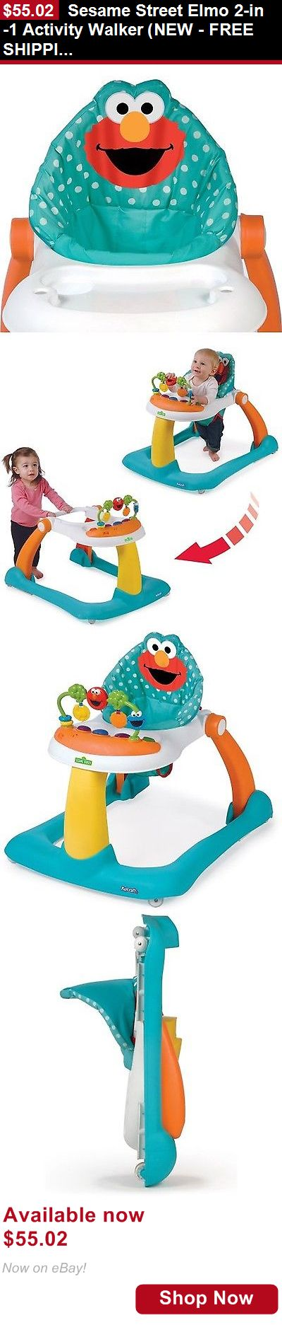 Baby walkers: Sesame Street Elmo 2-In-1 Activity Walker (New - Free Shipping) BUY IT NOW ONLY: $55.02