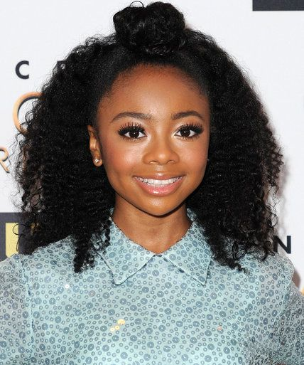 13 Natural Hairstyles Inspired by the Stars - Skai Jackson - from InStyle.com