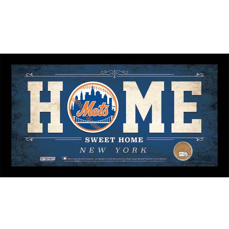 MLB Home Sweet Home Sign with Game-Used Dirt - New York Mets
