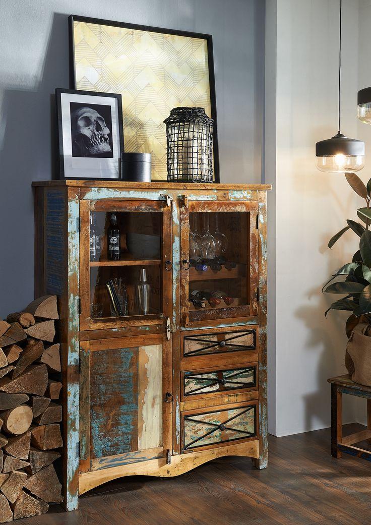 die besten 25 highboard massivholz ideen auf pinterest highboard massiv sheesham m bel und. Black Bedroom Furniture Sets. Home Design Ideas