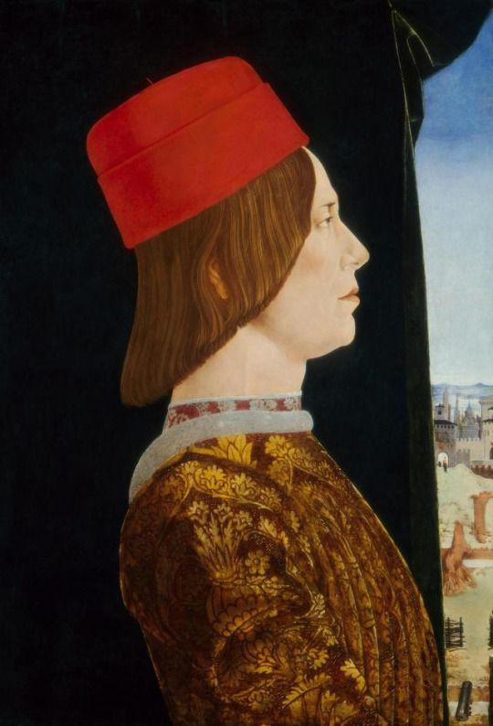 Ercole de' Roberti - Portrait of Giovanni II Bentivoglio. 1490