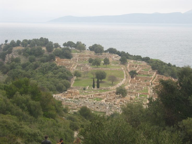 View of Rhamnous, Attika (Greece)