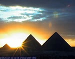 Pyramids at Giza. Have been there twice now; you could never tire of looking at them...