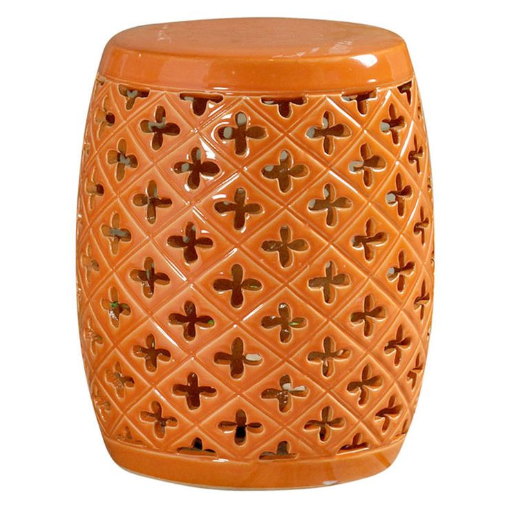 Popular Coral Ceramic Garden Stool Bb75