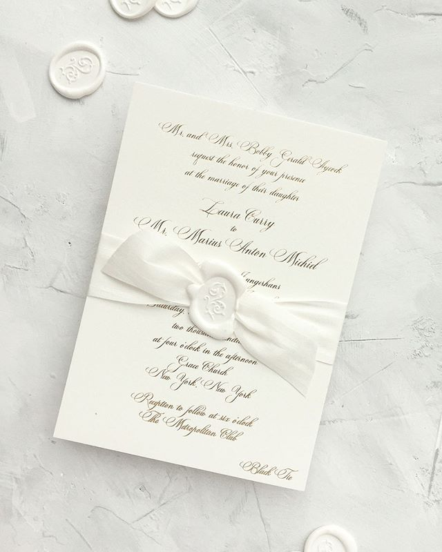 Foil Stamped Wedding Invitation