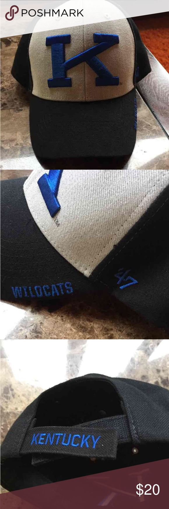 UK baseball cap Black grey blue K cap. Bought at Kentucky Wearhouse. Like new. Accessories Hats