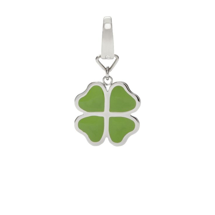 #Fossil #charm #green #luck #lucky