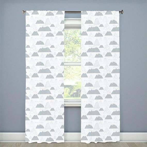 I Ll Move Mountains Nursery Curtains Gray Grey