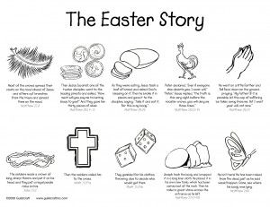 The Easter Story Coloring Page!: Holy Week, Stories Colors, Easter Stories, Coloring Pages, Guildcraft Art, Easter Eggs, Crafts Blog, Easter Ideas, Colors Pages