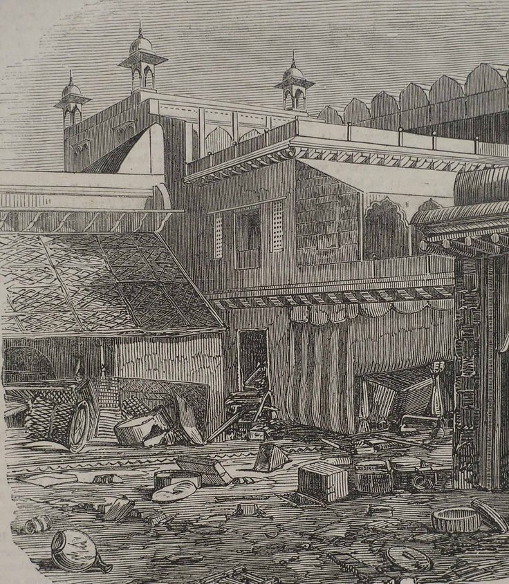 LOOTED HOUSE IN DELHI AFTER THE SIEGE - Images of India - Illustrated London News