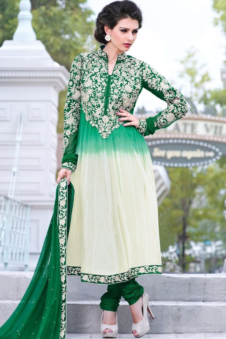 White and Green Net Anarkali suit #clearance #sale @ http://zohraa.com/shop/express-ship.html #celebrity #zohraa #onlineshop #womensfashion #womenswear #bollywood #look #diva #party #shopping #online #beautiful #beauty #glam #shoppingonline #styles #stylish #model #fashionista #women #lifestyle #fashion