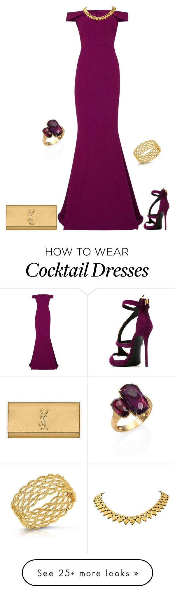 """outfit  2591"" by natalyag on Polyvore featuring Giuseppe Zanotti, Safiyaa, Marco Bicego, Yves Saint Laurent and Roberto Coin"