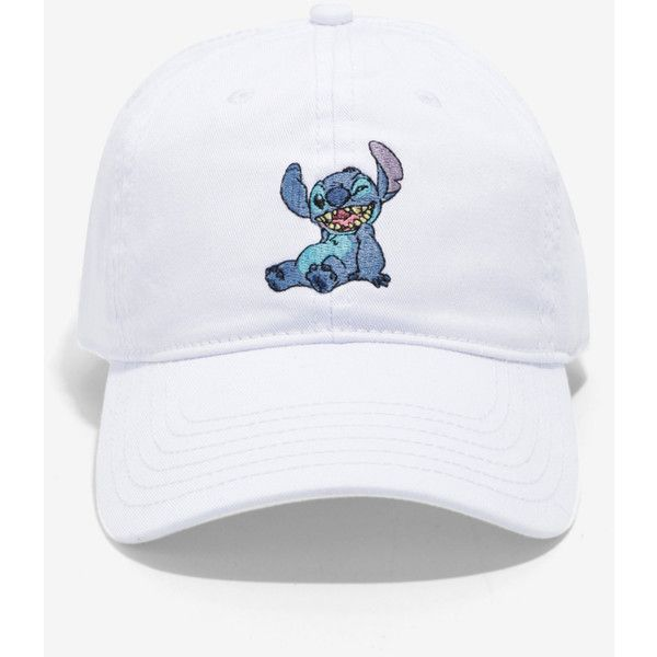 Disney Lilo & Stitch Embroidered Stitch Dad Hat ($19) ❤ liked on Polyvore featuring men's fashion, men's accessories, men's hats, accessories, hats, headwear and mens beach hats