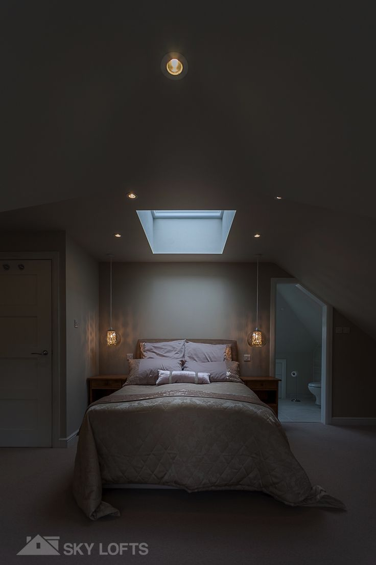 Fixed Flat Roof Light Over The Bed In This Beautiful Loft